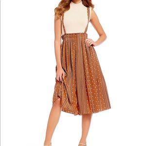 Gianni bini lee pinnafore western inspired dress